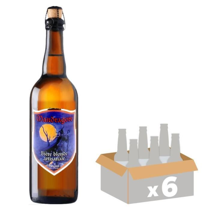 MELUSINE Mandragore - Bière Blonde - 33 cl x6 - 4,8 % - Fabriquée en FranceBIERE