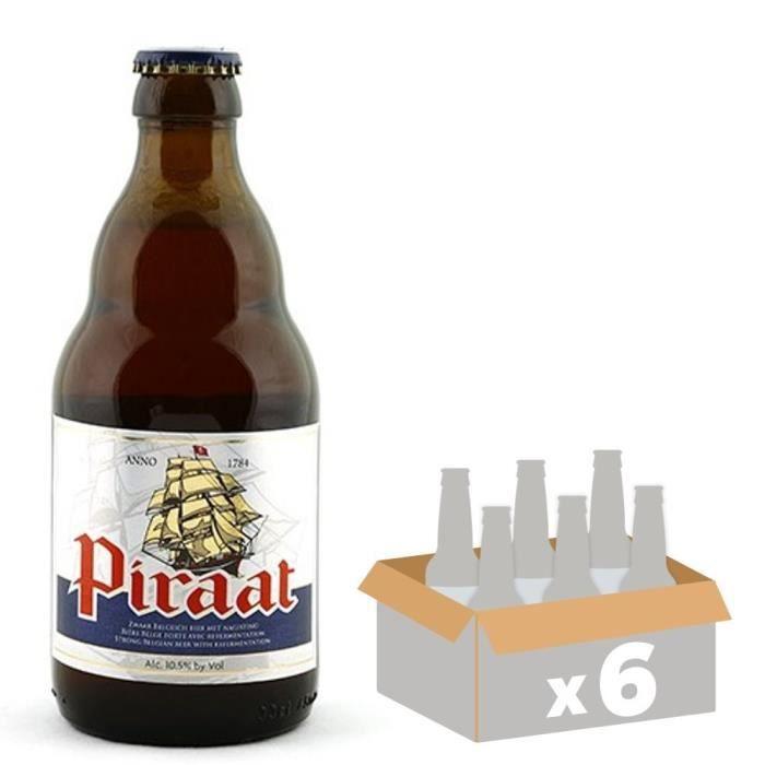 BRASSERIE VAN STEENBERGE Piraat Pale Ale Bière Ambrée - 33 cl x6 - 10,5 %