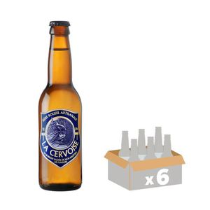 BIÈRE MELUSINE Bière CERVOISE Ambrée - 33 cl x6 - 6,5 %