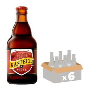 BIÈRE KASTEEL Bière Rouge Aromatisée - 33 cl x6 - 8 %