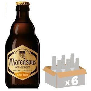 BIÈRE MAREDSOUS Bière Blonde - 33 cl x6 - 6 %