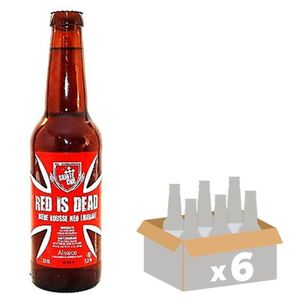 BIÈRE SAINTE CRU Red is Dead Bière Ambrée - 33 cl x6 - 7