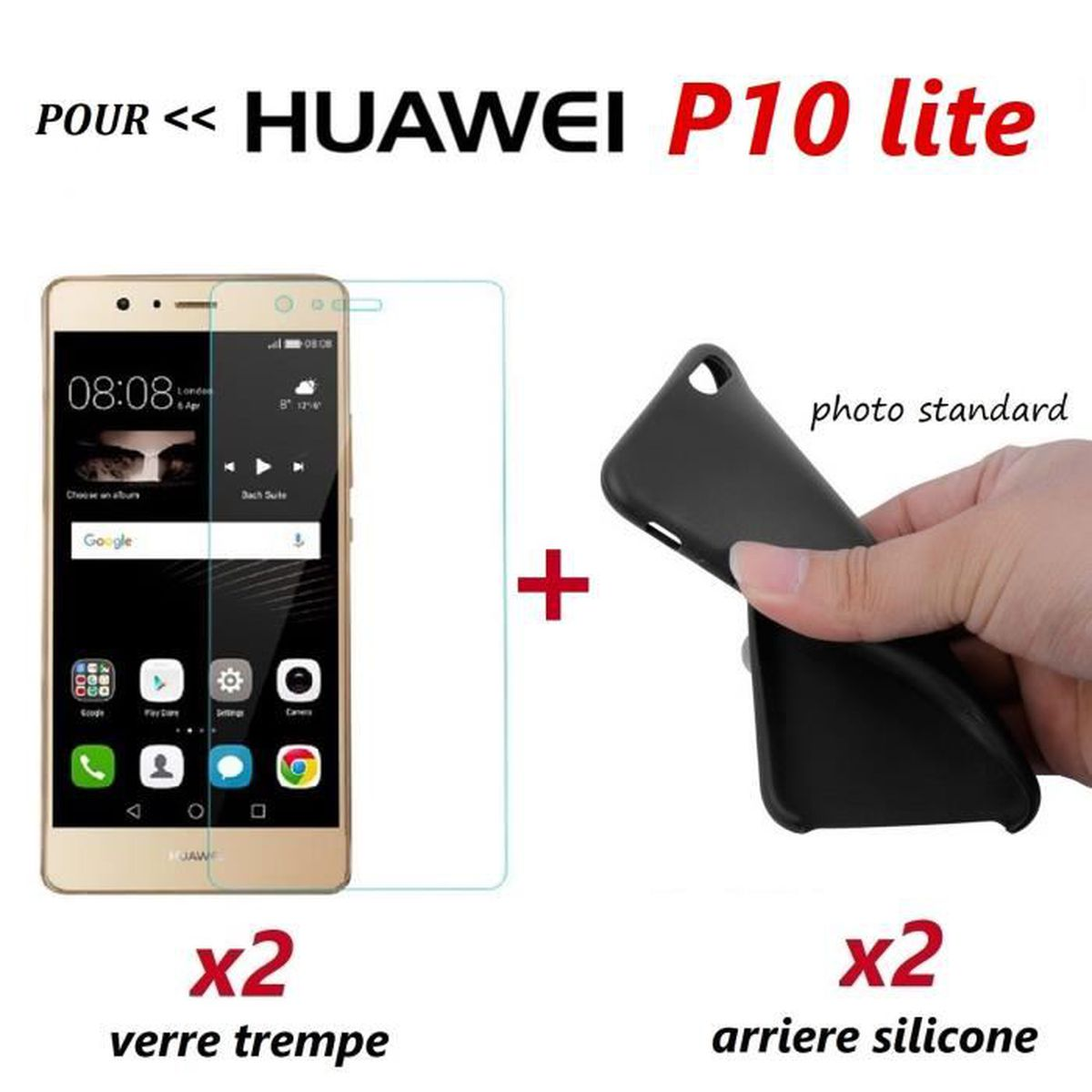coque huawei p10 lite protection verre