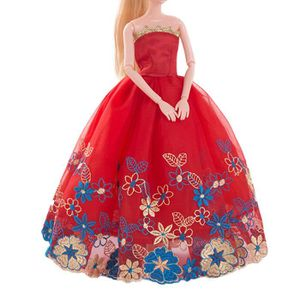 ACCESSOIRE POUPÉE Robe de mariée rouge pur Barbie Doll Soirée vêteme