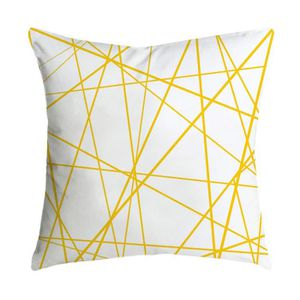 HOUSSE DE COUSSIN HOUSSE DE COUSSIN Taie Ananas Feuille jaune  Throw