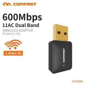 CARTE RÉSEAU  Ac 600 Mbps Usb Antenne Wifi Dongle Pc Portable Ré