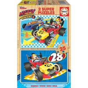 PUZZLE EDUCA Mickey Puzzle 2x25 pièces