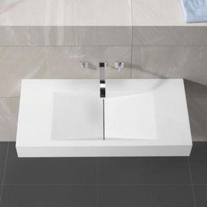 LAVABO - VASQUE Lavabo Suspendu Rectangulaire Blanc Mat, 100x48 cm