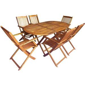 Salon de jardin bois Vidaxl - Achat / Vente Salon de jardin bois ...