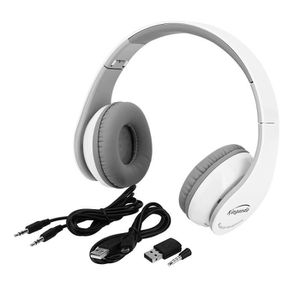CASQUE AVEC MICROPHONE Blanc Casque de jeu sans fil Bluetooth écouteur st