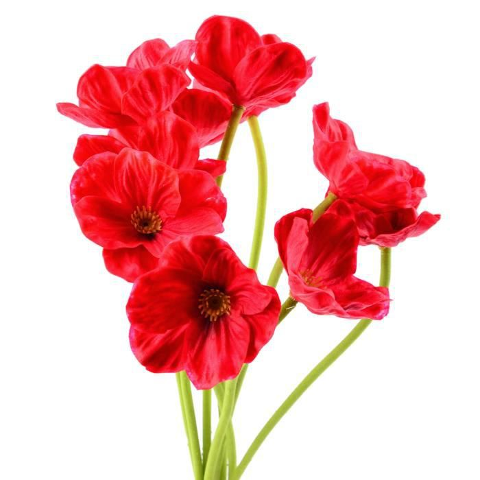 Fleurs artificielles coquelicots achat vente fleurs for Vente fleurs artificielles