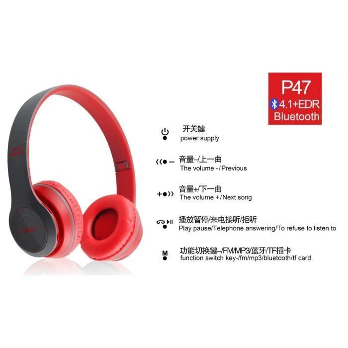 Antibruit-sans-fil-casque-bluetooth-4-2-écouteur-casque-avec-mic-hot -- Sport