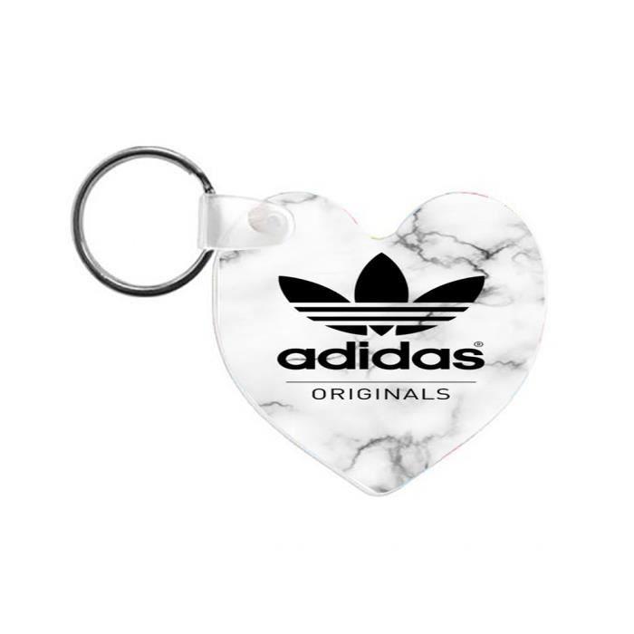 size 40 fd35a b3239 PORTE-CLÉS Porte-Clefs en Bois Adidas Marbre Logo Luxe 64x58m