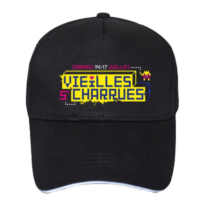 a351a80483ea2 Casquette de Baseball - Festival des Vieilles Charrues 2016 Programmation  Line - Coton Unisexe Chapeau Noir