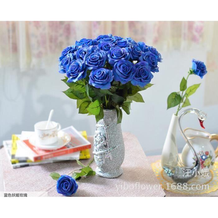 Fleur Artificielle Bleu Achat Vente Pas Cher