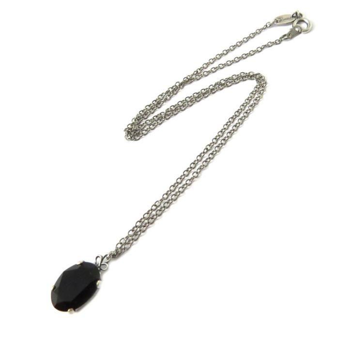 Collier artisanal Tsarine noir... [P0934]