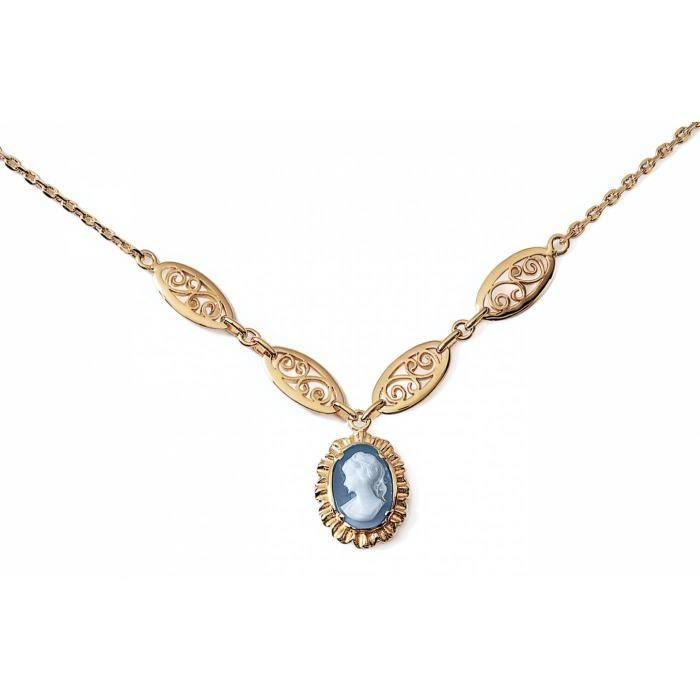 Collier femme plaqué or Arabel bleu Bijoux en Vogue