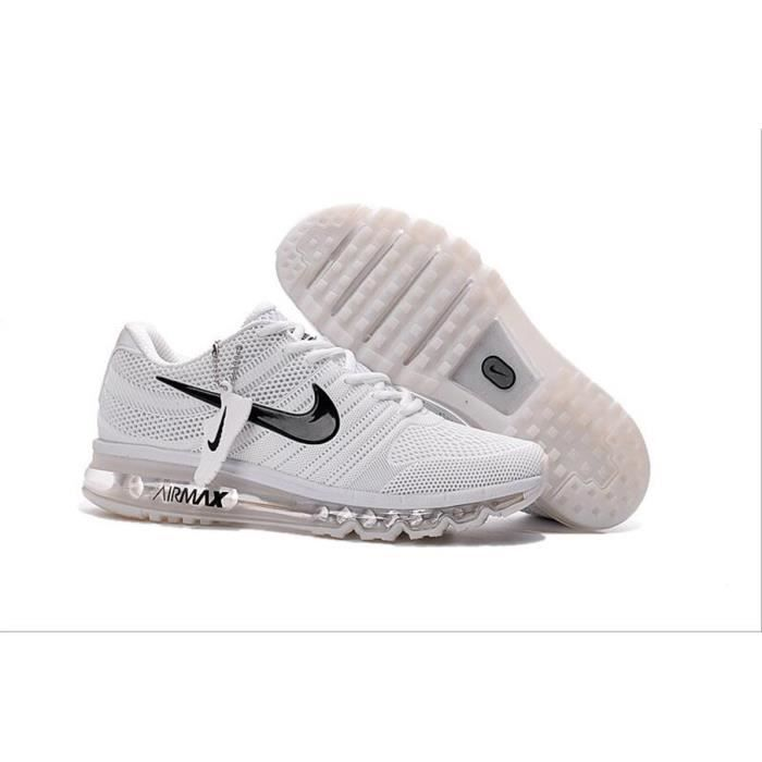 nike air max 2017 runging baskets chaussures de sport femme homme blanc blanc tu achat vente. Black Bedroom Furniture Sets. Home Design Ideas