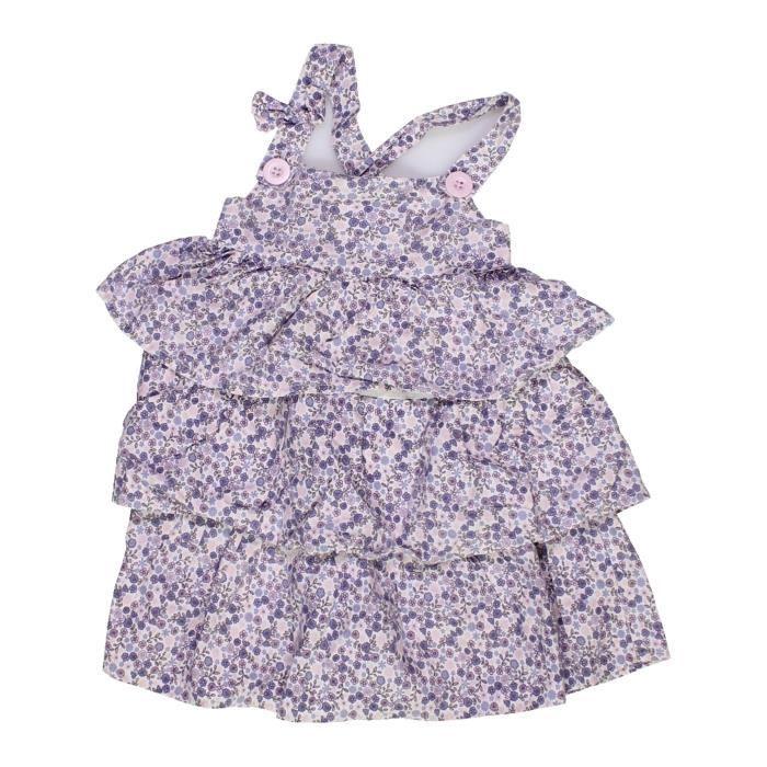 59975477c806c Robe bébé fille LA REDOUTE CRÉATION 18 mois violet été  957775 - 207221573