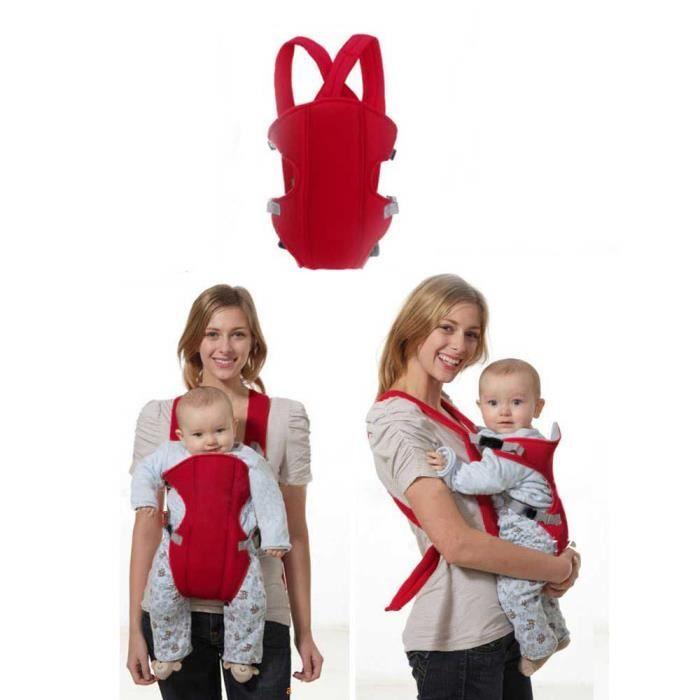 3-16 mois multifonctions Rouge Porte-bébé Enfant Sling Sac à dos ... 01d9718787e