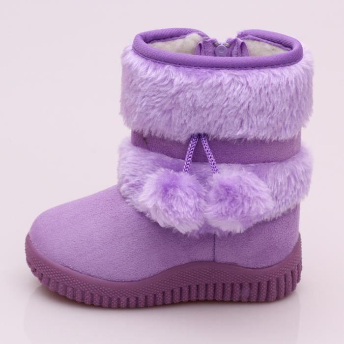 Botte bottes enfants de neige des chaudes épaississent Les wrIgnqRr