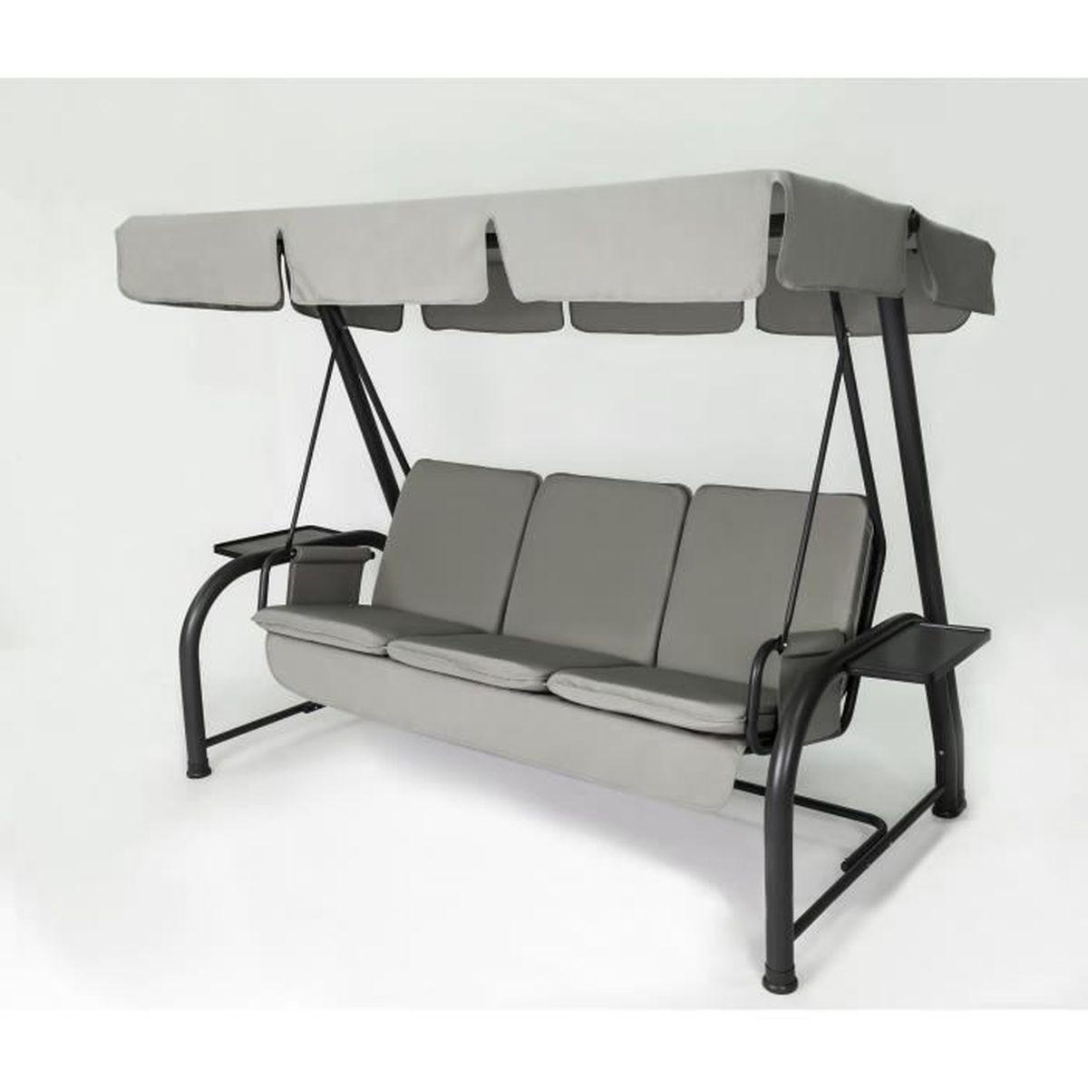set coussins toit de remplacement pour balancelle 4 places tourterelle achat vente. Black Bedroom Furniture Sets. Home Design Ideas