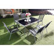 Salon de jardin 6 personnes aluminium textilène - Achat / Vente ...
