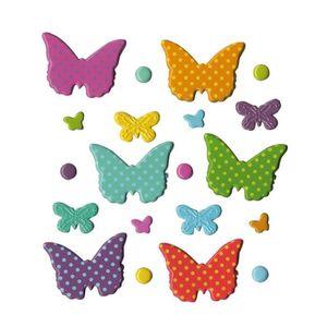 EMBELLISSEMENT ARTEMIO Lot de 20 brads - Thème Papillons