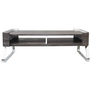 TABLE BASSE CURVE Table basse style contemporain décor wengé e