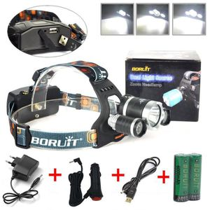 LAMPE FRONTALE MULTISPORT 5000LM 3x Cree XM-L2 LED Lampe Frontale Ultra Puis