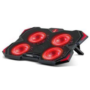 SUPPORT PC ET TABLETTE Refroidisseur PC Portable Gamer 12 à 17''- 4 Venti