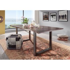 TABLE À MANGER SEULE Table à manger 200x100cm - Bois massif d'acacia la