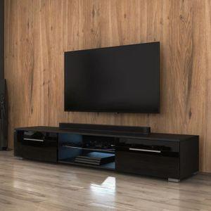 MEUBLE TV Meuble TV / Meuble salon - EDITH - 140 cm - noir m
