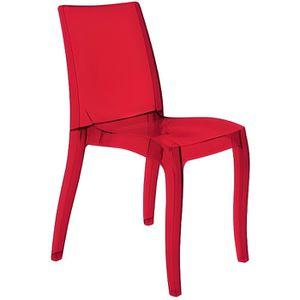 Chaise rouge transparente achat vente pas cher - Chaise rouge transparente ...