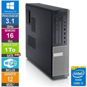 UNITÉ CENTRALE  PC Dell Optiplex 790 DT I5-2400 3.10GHz 16Go/1To S