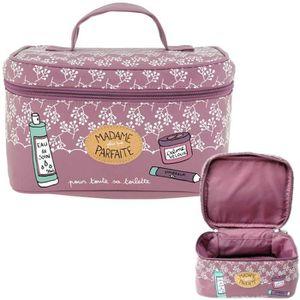 42a53f1898 TROUSSE DE TOILETTE Vanity MADAME PARFAITE Rose - Trousse de Toilette ...