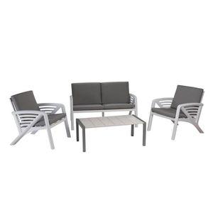 Salon de jardin Lounge Sunday Corfou design GROSFILLEX Anthracite ...