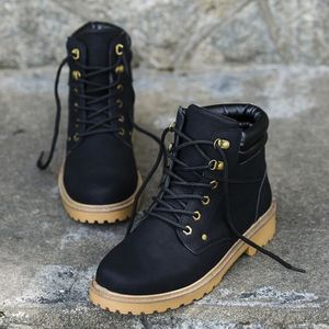 Les hommes bas garniture cheville plat cheville automne hiver bottes chaudes sport chaussures @BK pJKRQRF