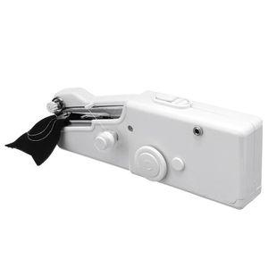 MACHINE À COUDRE Machine à coudre main portatif à pile blanc (SANS