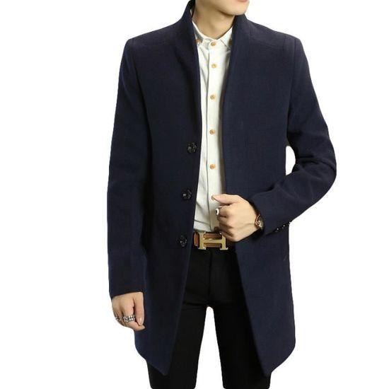 9a225e0694e54 Hiver Slim Standup Masculin Col Vêtement Longue Parka Mode Homme Marque Luxe  En Vêtements fxXzwI4Zq