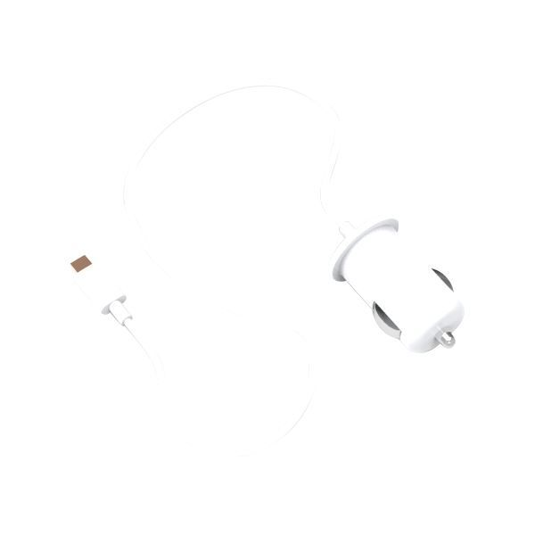 BBC Chargeur allume-cigare IP5 - Blanc