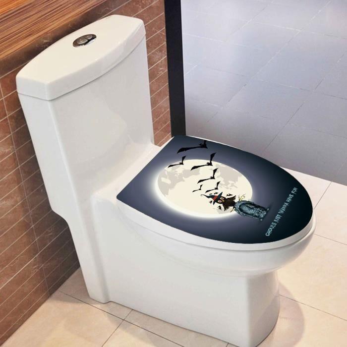 Hallowmas Siège De Toilette Autocollant Mural Stickers Vinyle Art