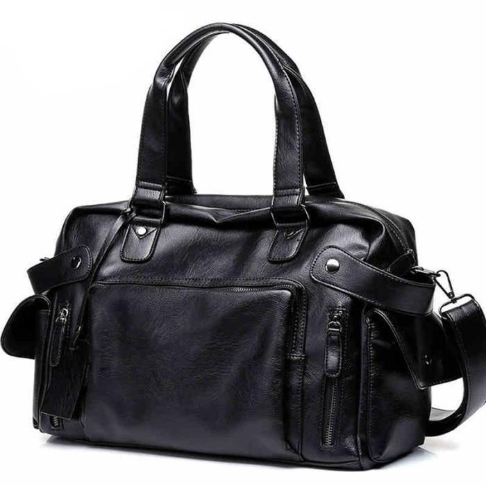 sac à main Haute Qualité Hommes Sac en cuir Homme daffaires Vintage hommes Duffel Casual Sac fourre-tout des hommes -2864
