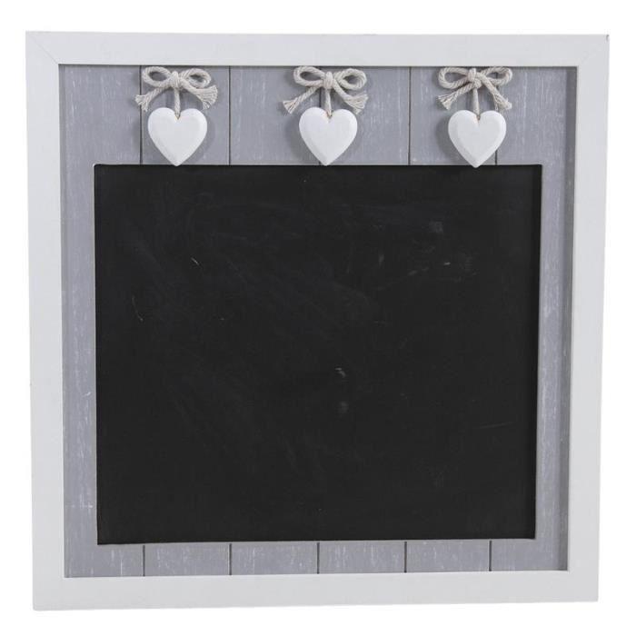 Tableau noir , ardoise murale, en bois avec cœurs - Achat / Vente ...