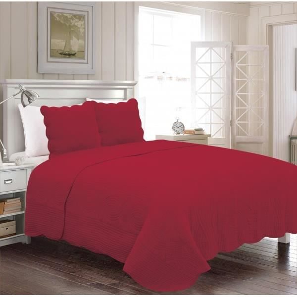 couvre lit bordeaux achat vente couvre lit bordeaux pas cher cdiscount. Black Bedroom Furniture Sets. Home Design Ideas