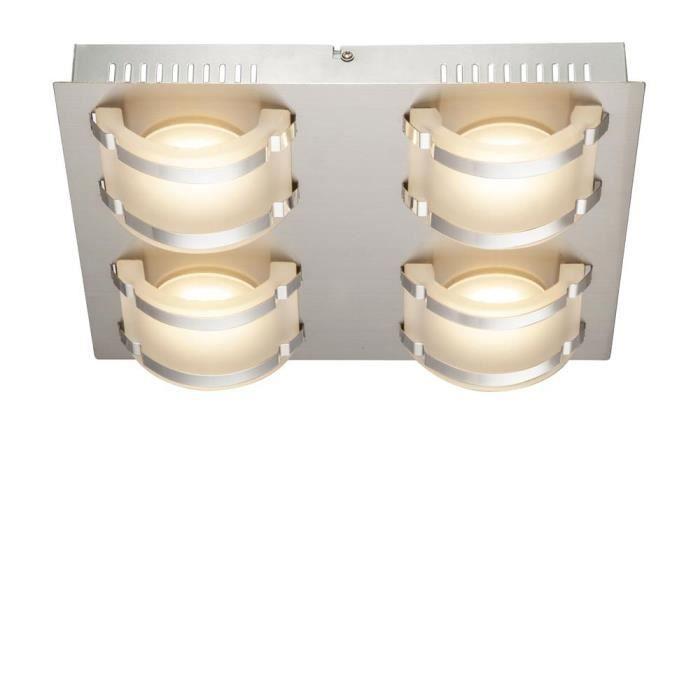 PLAFONNIER Un plafonnier élégant LED 20 watts DEL nickel mat