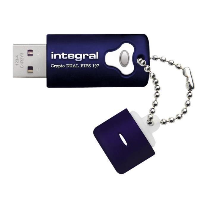 DISQUE DUR SSD Integral Crypto Dual - Clé USB - 64 Go - USB 3.0