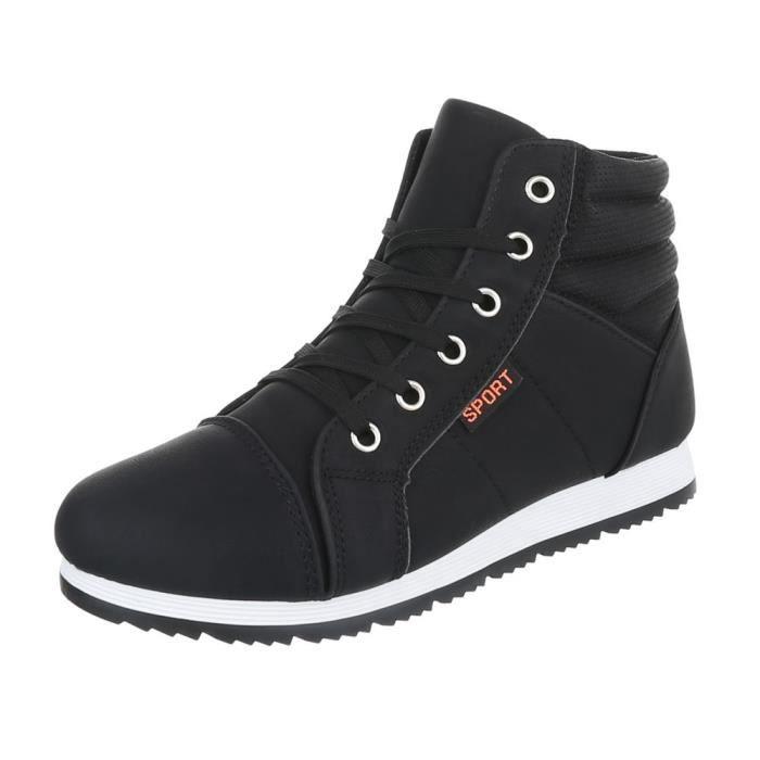 Noir blanc 41 Noir Femme Sneakers Sport Chaussures w1nqFtAYaw