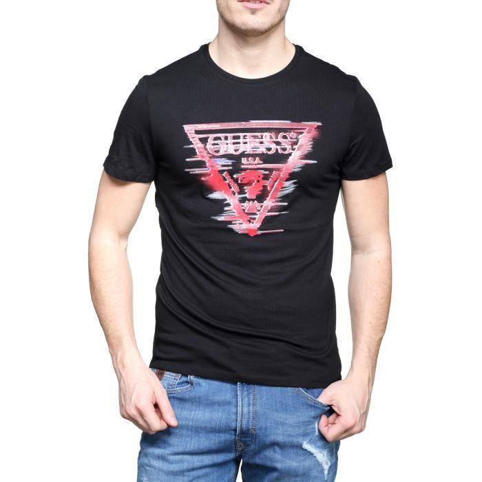 Tee Shirt Guess M82i25 - I3z00 A996 Noir Noir Noir - Achat   Vente t ... b9dfcffc5ca