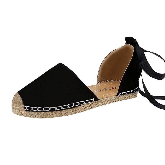 Chaussures Printemps Plat Lacet Nu Femme Romaines Été Sandales Mode rdoCxBe